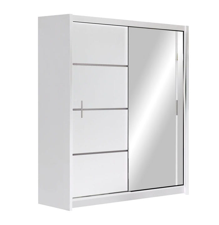 Szafa Przesuwna Z Lustrem Vista Ii 180x215x61 Biały Mat